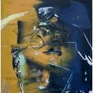 Rythme et vision, de l'artiste Sandy Cunningham, Tableau, Techniques mixtes sur toile, Création unique, dimension : 30 x 30 po de largeur