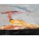 Sanglots nucléaires II, de l'artiste Benoit Genest Rouillier, Tableau, Acrylique sur toile, Création unique, dimension : 48 x 60 po de largeur