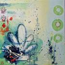 Seashell, de l'artiste Marie-Eve Lachance, Tableau, Huile, Création unique, dimension 16 x 16 pouces d'épaisseur