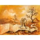 Carte de souhaits 5x7, Sentiers de papier, de l'artiste Félix Girard, dimension : 5 x 7 pouces largeur, sans texte, avec enveloppe, Vous pouvez inscrire votre message à l'intérieur., Carte vendue à l'unité