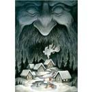Carte de souhaits 7x5, Soir d'hiver, de l'artiste Félix Girard, dimension : 7 x 5 pouces largeur, sans texte, avec enveloppe, Vous pouvez inscrire votre message à l'intérieur, Carte vendue à l'unité