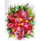 Songe d'été, de l'artiste Nancy Létourneau, Oeuvre sur papier Yupo, médium encre à l'alcool, Création unique, dimension 26 x 20 de largeur