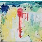 Starshine, de l'artiste Marie-Eve Lachance, Tableau, Huile, Création unique, dimension 16 x 16 pouces d'épaisseur