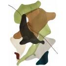 Terre et mer, no 09, de l'artiste Vanessa Sylvain, Oeuvre sur papier, Acrylique, Création unique, dimension : 16 x 12 pouces de largeur