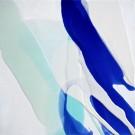 Think Blue, de l'artiste Vanessa Sylvain, Tableau, Acrylique sur toile, Création unique, dimension 12 x 12 pouces de largeur