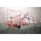 Les sanglots du profit, de l'artiste Benoit Genest Rouillier, Tableau, Acrylique sur toile, Création unique, dimension : 48 x 72 po de largeur