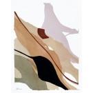 Until we meet, no 2, de l'artiste Vanessa Sylvain, Oeuvre sur papier, Acrylique sur papier, Création unique, dimension : 12 x 9 pouces de largeur