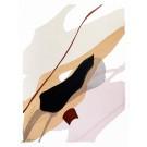 Until we meet, no 5, de l'artiste Vanessa Sylvain, Oeuvre sur papier, Acrylique sur papier, Création unique, dimension : 12 x 9 pouces de largeur