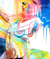 La vertu des cornus, de l'artiste Marie Chantal Le Breton, 40x50 pouces